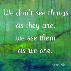 see things